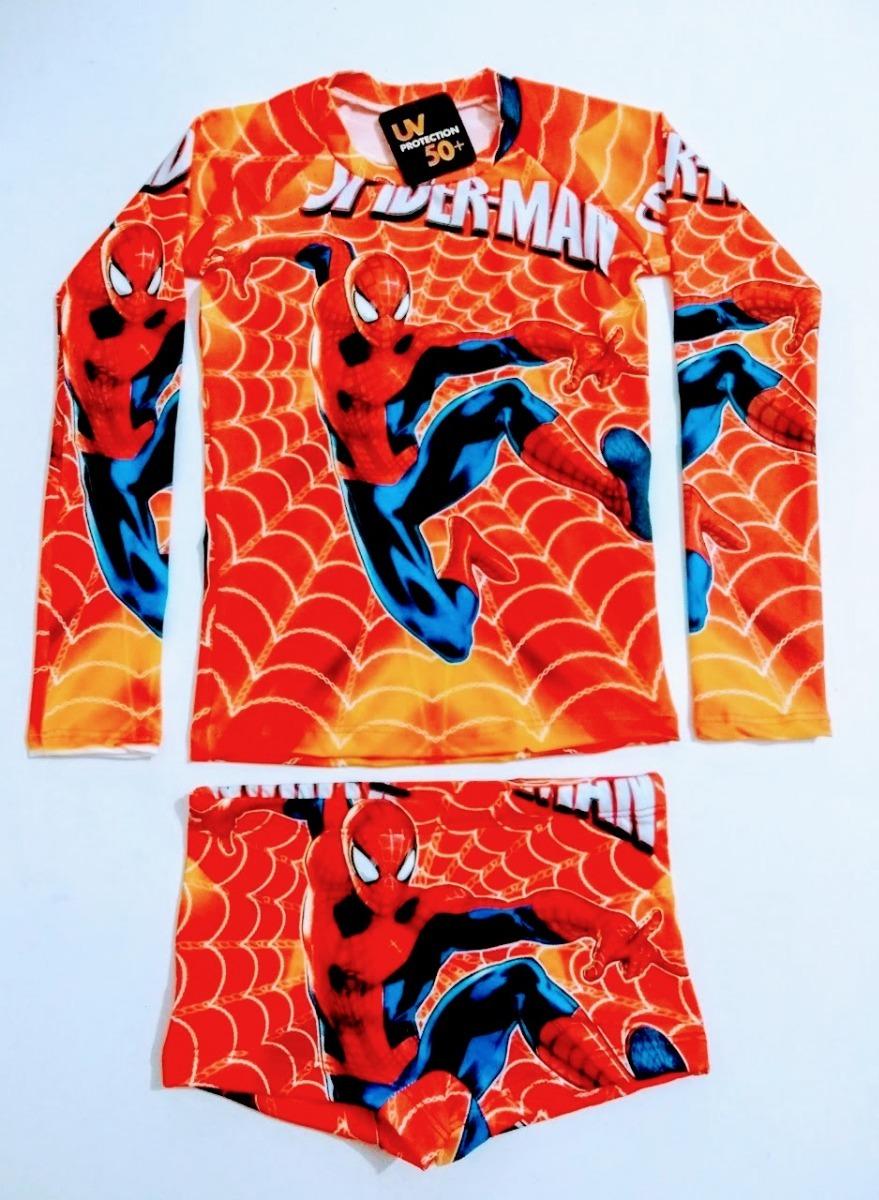 Sunga + Camisa Uv50 Hulk Carros Patrulha Batman Aranha 8 - R  59 8a7368c381b