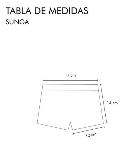 sunga cangrejos (talle 2)