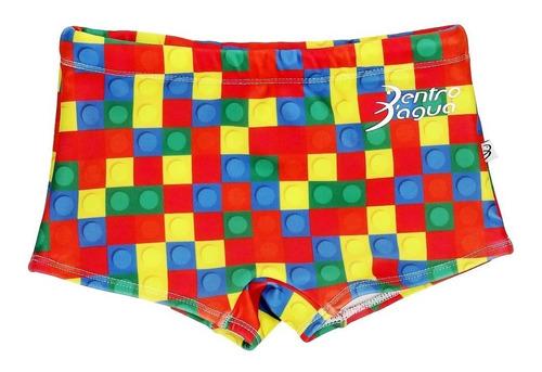 sunga infantil boxer lego - dentro d´agua