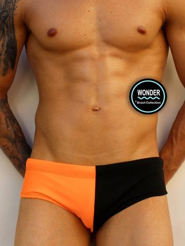 sunga wonder - modelo slip estampa tropic orange