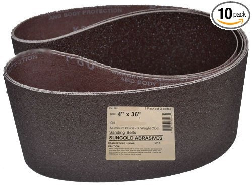 sungold abrasivos 35096 4 pulgadas por 36 pulgadas bandas ab