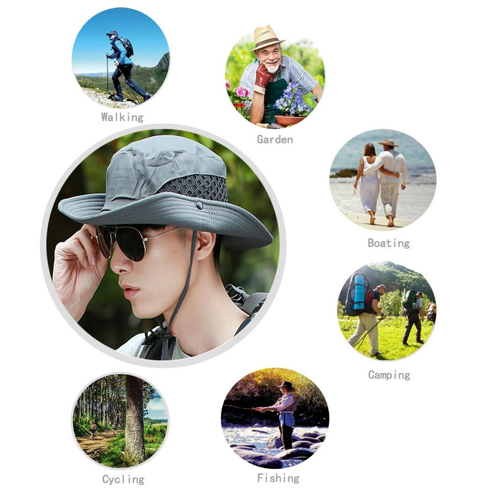 efab38872a7aa sunland poliéster sombrero sombrero sol gorro protección. Cargando zoom.