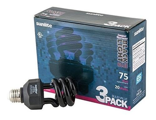 sunlite sl20 / blb / 3pk 20w espiral de ahorro de energía c
