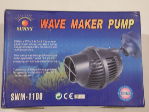 sunny swm-1100 wave maker 5,000l/hr acuario marino/arrecife