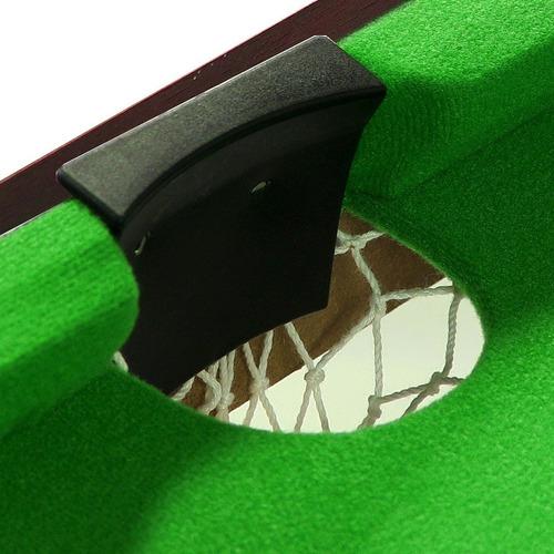 sunnydaze mesa de billar de mesa de 36 pulgadas mini con tr