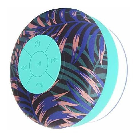 sunnylife ducha altavoz bluetooth floracion electrica azul m
