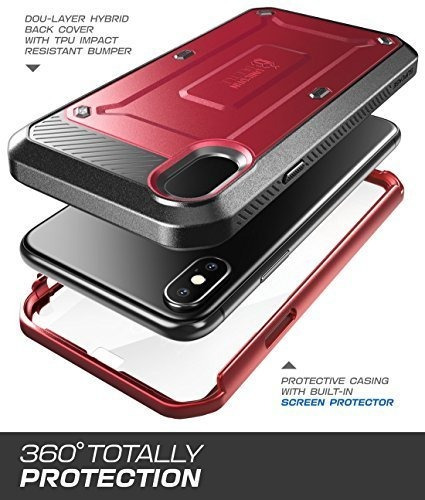 supcase cell phone celular para iphone 8  rosa rojo metalico
