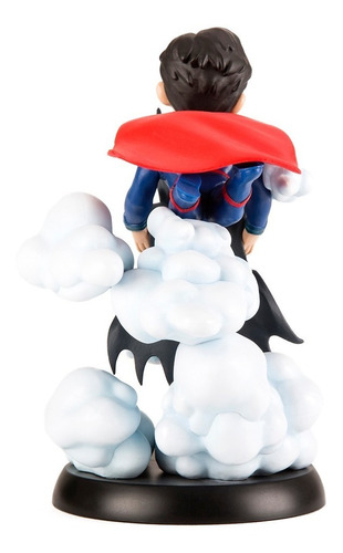 supeman batman worlds finest q-fig max qmx - robot negro