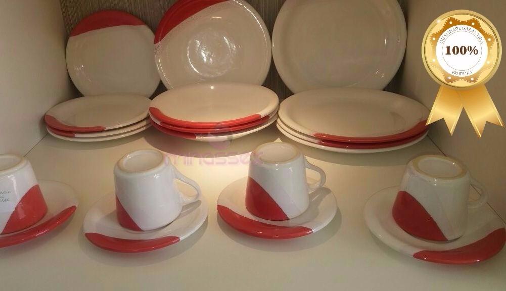 Super Aparelho De Jantar Com 20 Peças Em Cerâmica De Luxo R 137