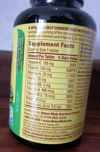 super b-complex,complejo b,+ vitamina c, 460 tabletas