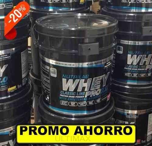 super balde de whey pro 5 kilos proteinas nutrilab