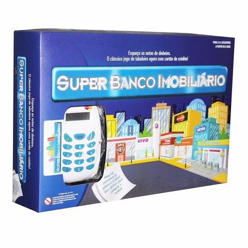 super banco imobiliário com maquina de cartão de crédito