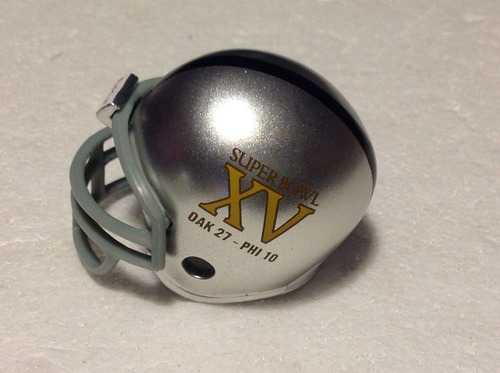 super bowl # 15 nfl raiders oakland casco y tarjetas