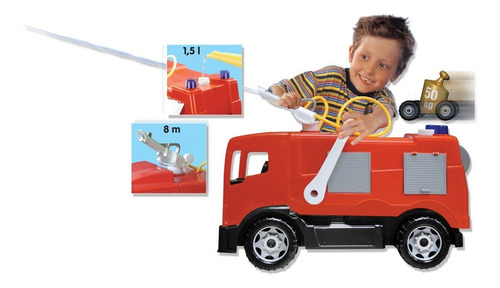 super camión bombero antex brutus lanza agua len4003 edu