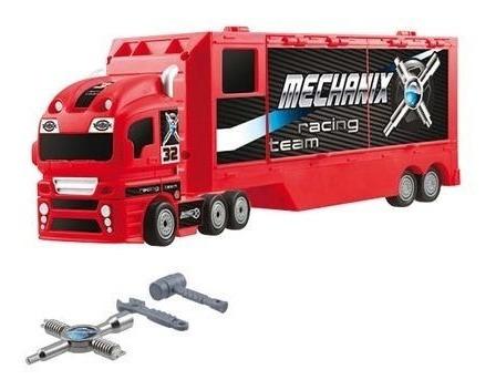 super camion pit shop mechanix con herramientas tv microcent
