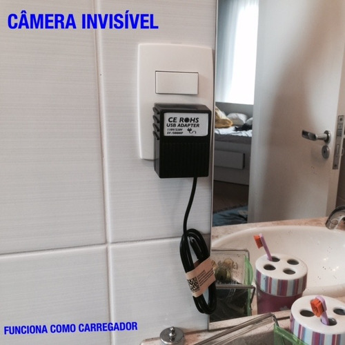 super carregador de parede espiao ip camera real time spy