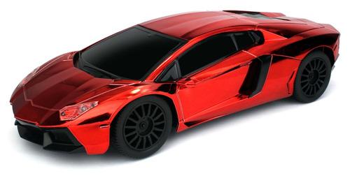super carro deportivo a control remoto cromado tamaño a