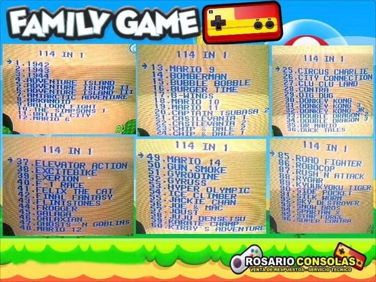 Super Cartucho 114 Juegos En 1 Family Game Edicion Coleccion 700