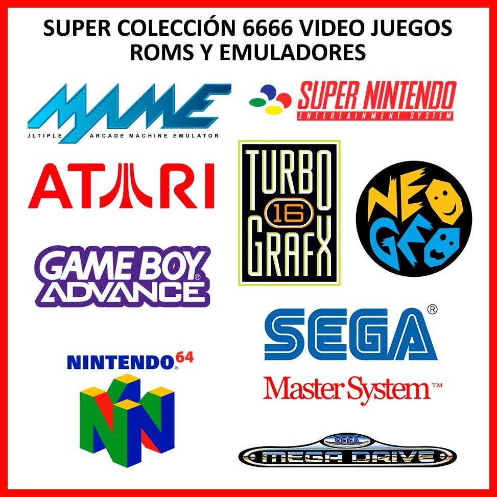 Super Colección 6666 Video Juegos Roms Y Emuladores