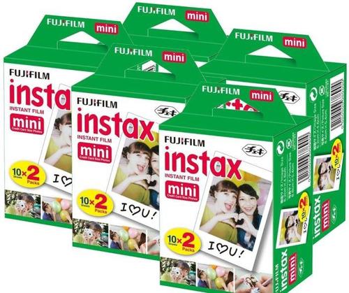 super combo 5 x packs filme instax mini 100 fotos