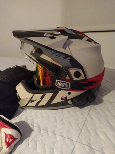 super combo biker casco
