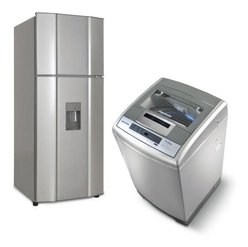 super combo challenger - nevera cr312 + lavadora cw5710