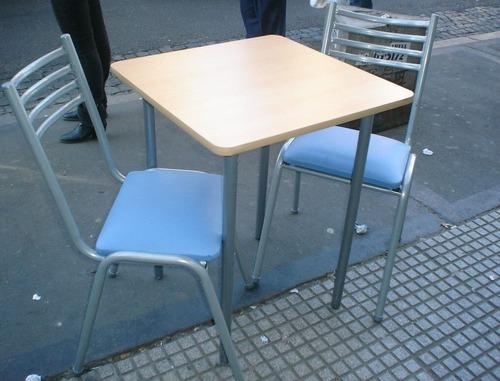 super combo! mesa 60x60 haya con 2 sillas caño!!imbatible!!