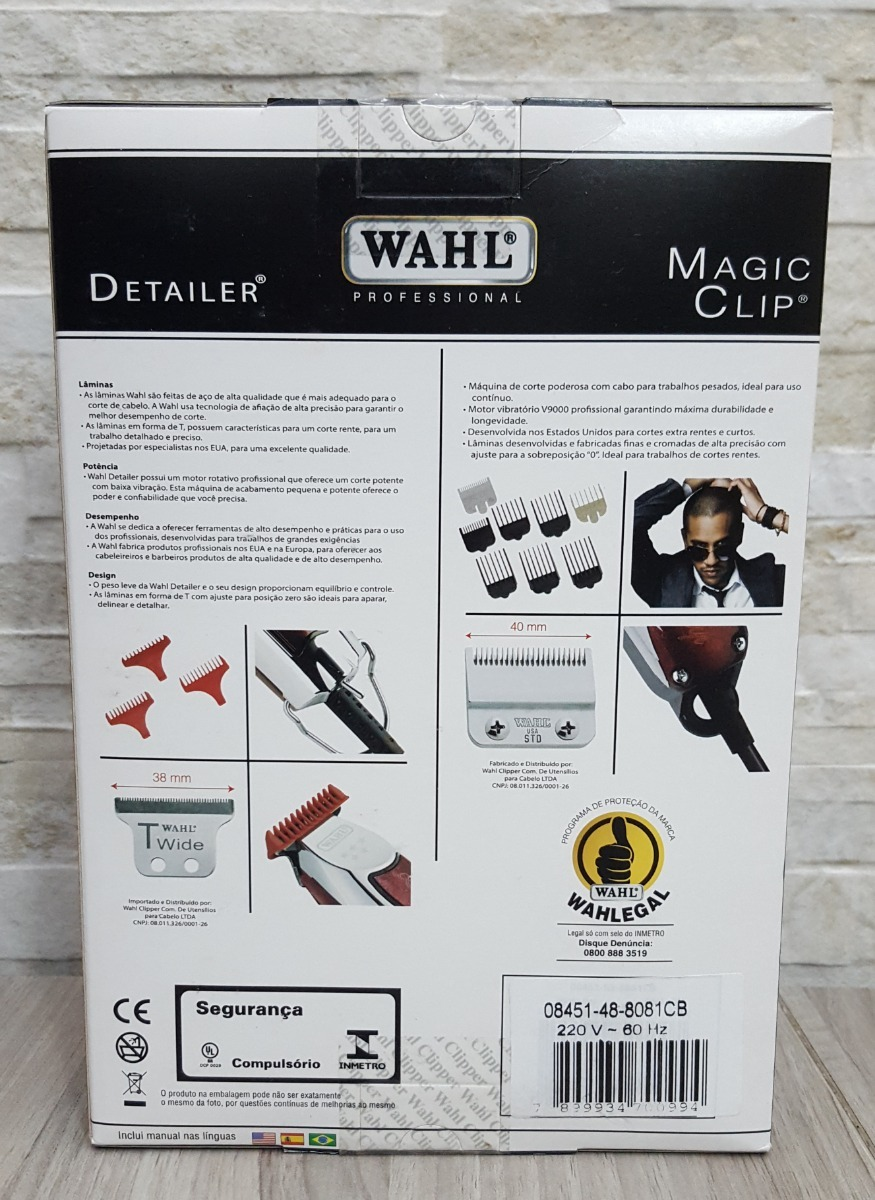 e81cc321e super combo wahl - magic clip 220 + detalier bivolt + nota. Carregando zoom.