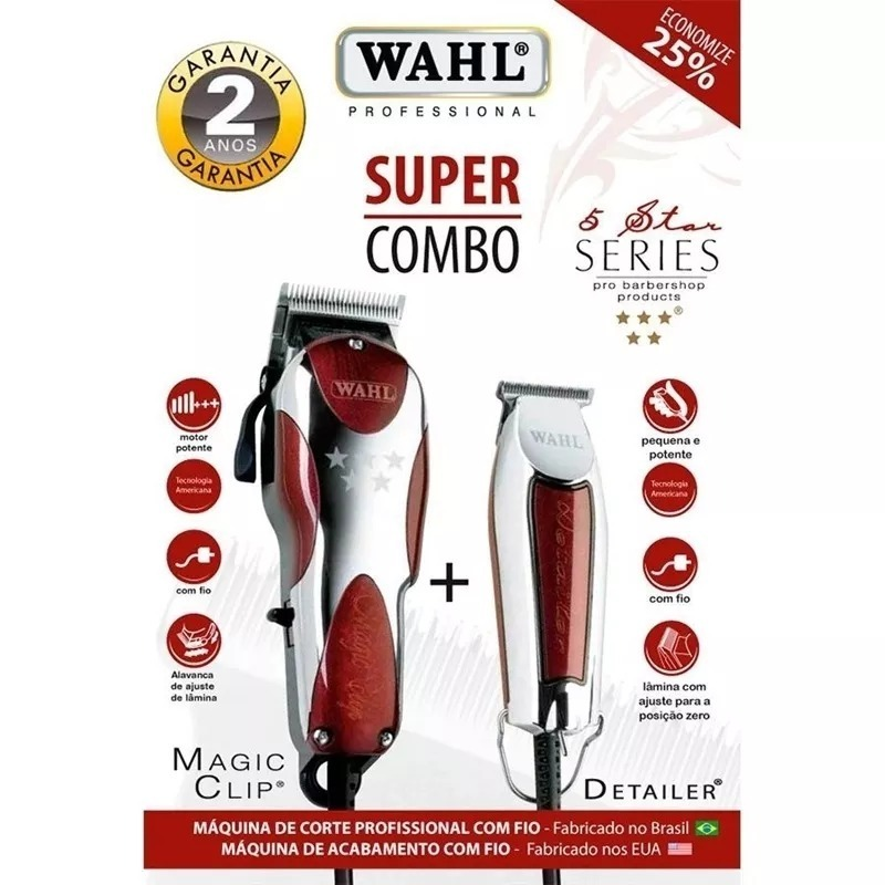 d2a283bf6 Super Combo Wahl - Magic Clip + Detalier T Wide - R$ 999,00 em ...