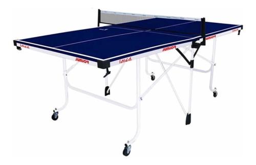 súper cómoda mesa de ping pong larca azul 183x114x76