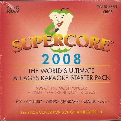 súper core karaoke 16 del conjunto de discos 295 canciones
