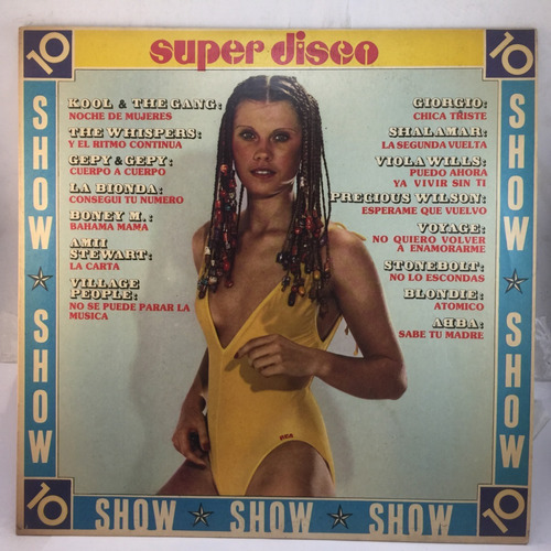 super disco show - kool & the gang - abba - vinilo lp