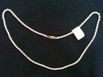 super ganga,cadena corchada de plata de 45 cm de largo