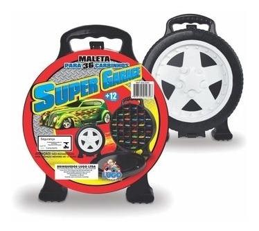 super garagem para carrinhos hot wheels 36 divisorias maleta