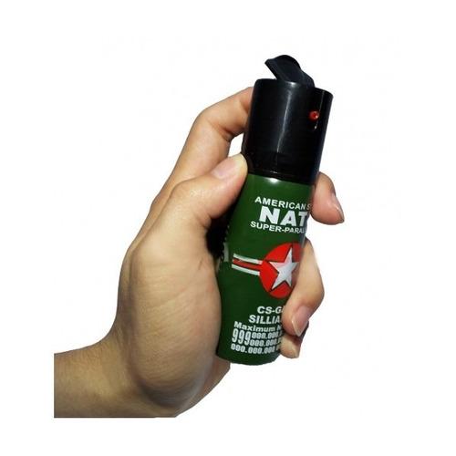 super gas pimienta spray defensa personal aleman + carnet!