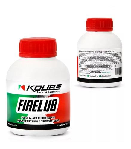 super graxa lubrificante pastilha freio firelub 200ml koube