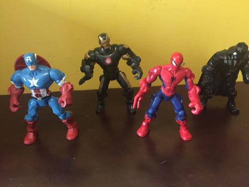 super hero mashers - hasbro set 5 piezas