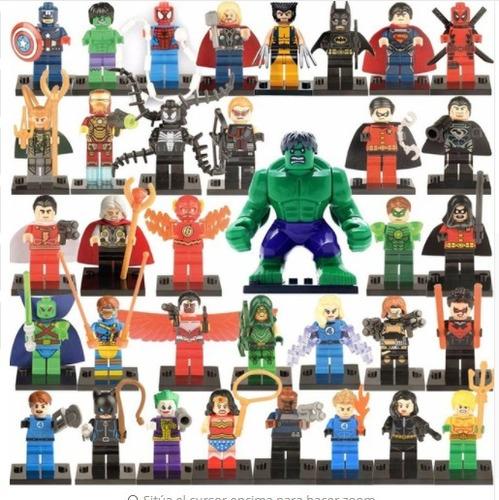 super héroes 35 figuras lego compatibles