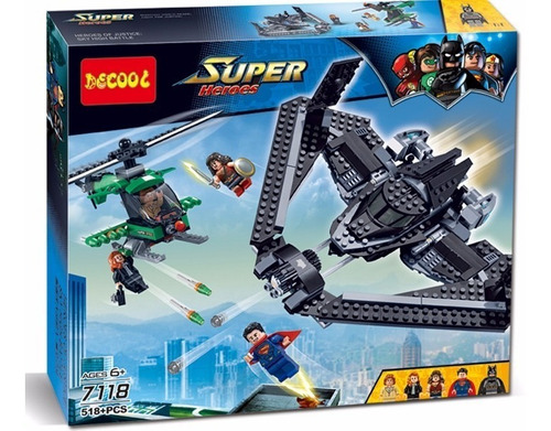 super heroes batman,superman bloques 7118 armables tipo lego