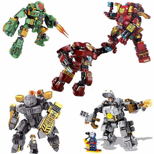 super heroes coleccionable block de ensambles