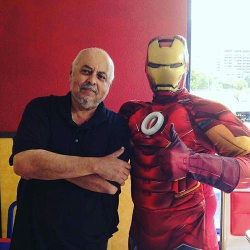 super heroes muñecote show spiderman capitan ironman hulk