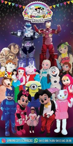 super heroes muñecotes show mickey, unicornio vampirina paw