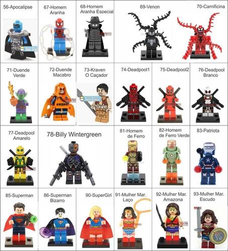 super heróis bonecos