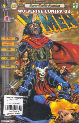 super-heróis premium x-men nº 9 wolverine vs x-men lacrada