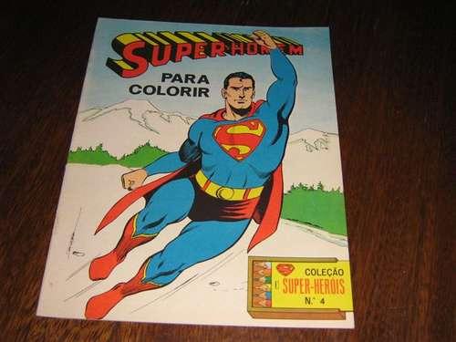 super-homem coleção super-heróis para colorir editora ebal