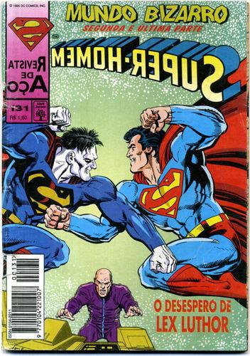 super-homem nº 130 e 131 - mundo bizarro