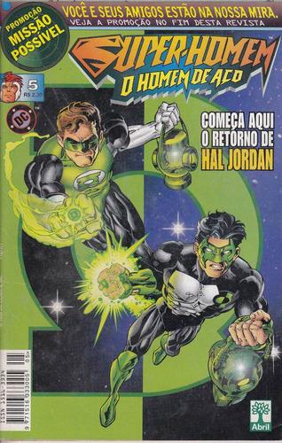 super-homem o homem de aço nº 5 - lanterna verde hal jordan