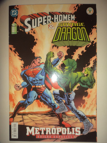 super homem & savage dragon editora abril 2000 excelente