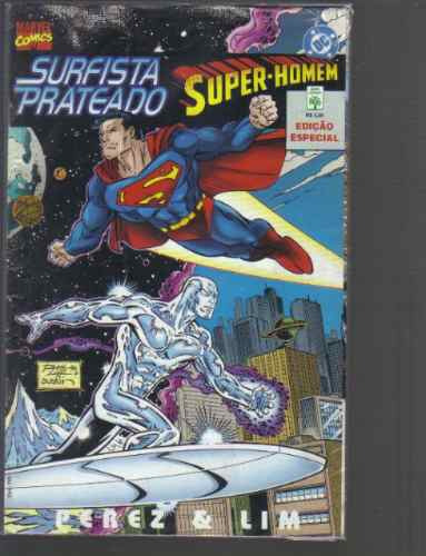 super-homem surfista prateado dc marvel comics ed abril jov