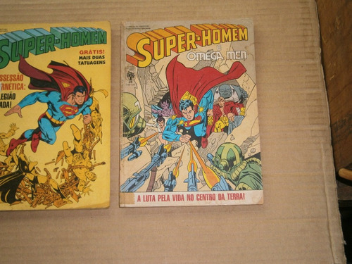 super-homem,titâs, pacificador,  raros e antigos